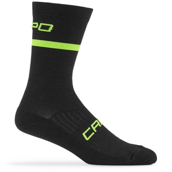 Capo Euro 200 Merino Wool 15cm Socks Black L/XL
