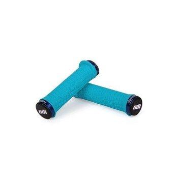 ODI TLD Lock-On MTB Grips Aqua/Blue