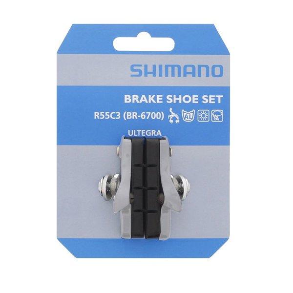 Shimano BR-6700 BRAKE SHOE SET R55C3 CARTRIDGE-TYPE 1 PAIR