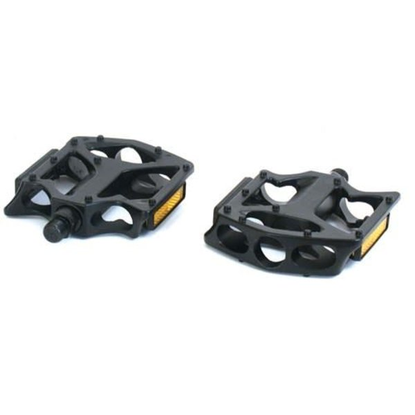 "Bikecorp Platform Pedals 1/2"" Alloy Black with Reflectors"