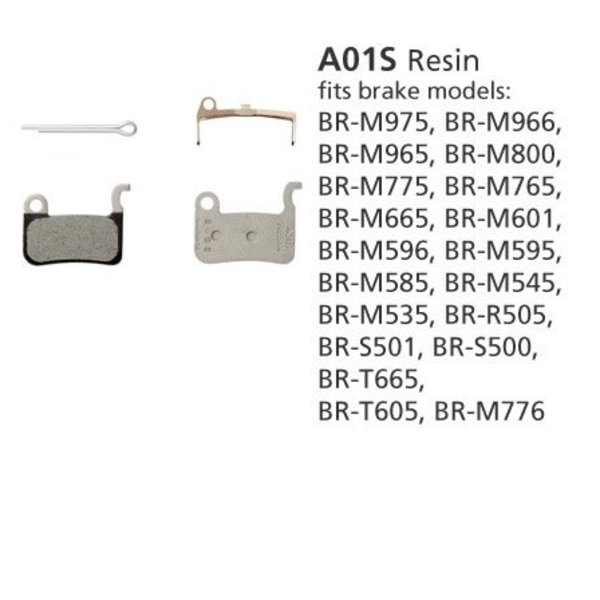 Shimano BR-M775 DISC BRAKE PADS 1PR A01S RESIN