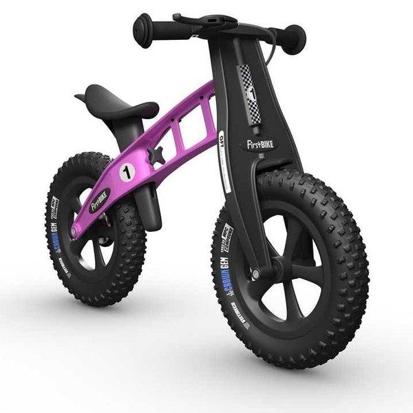 FirstBIKE FAT Cross Balance Bike with Brake Pink