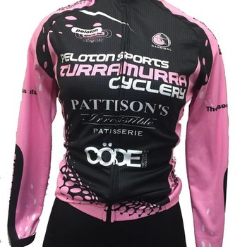 Peloton Sports Peloton Sports Ladies Long Sleeve Jersey Pink/Black