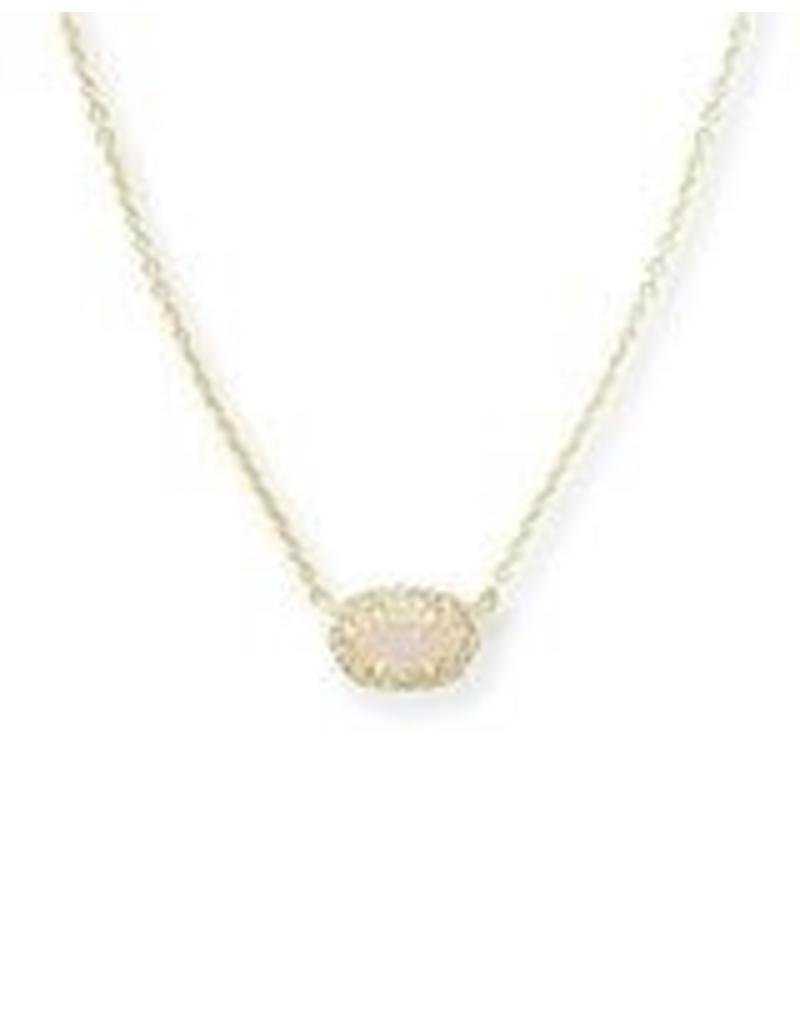Kendra Scott Kendra Scott Chelsea Necklace in Iridescent Drusy on Gold