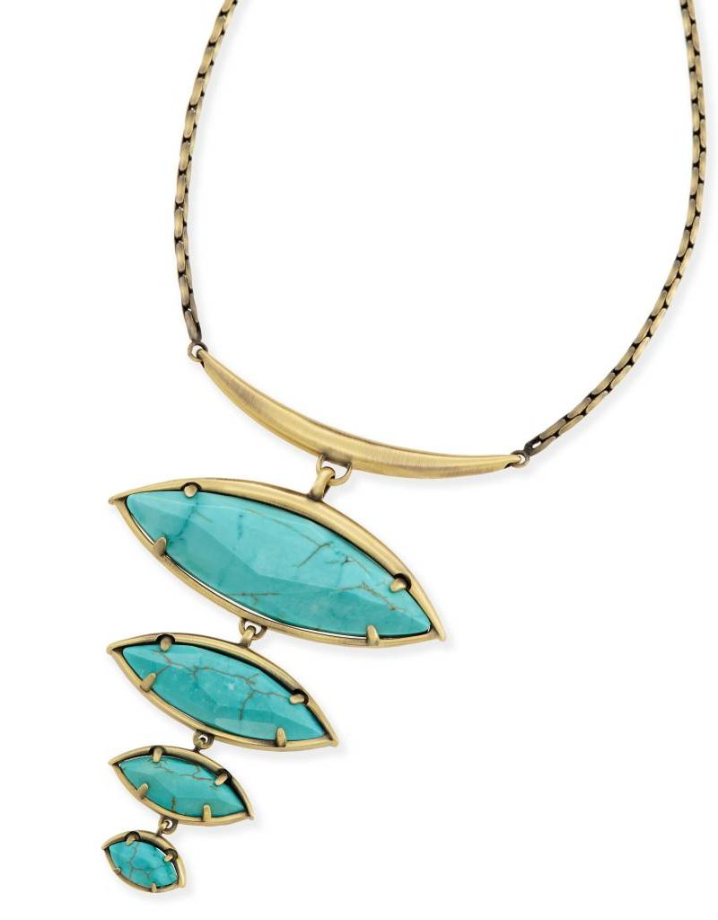 Kendra Scott Kendra Scott Morris Statement Necklace in Variegated Turquoise