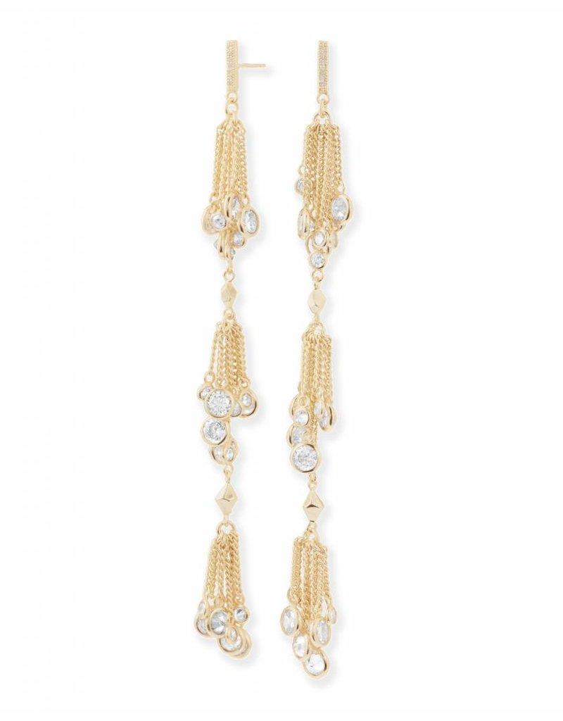 Kendra Scott Kendra Scott Tallulah Shoulder Duster Earrings in Gold