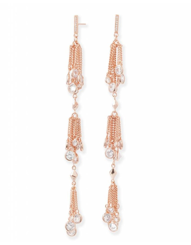 Kendra Scott Kendra Scott Tallulah Shoulder Duster Earrings in Rose Gold