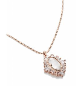 Kendra Scott Kendra Scott Kay Pendant Necklace in Rose Gold