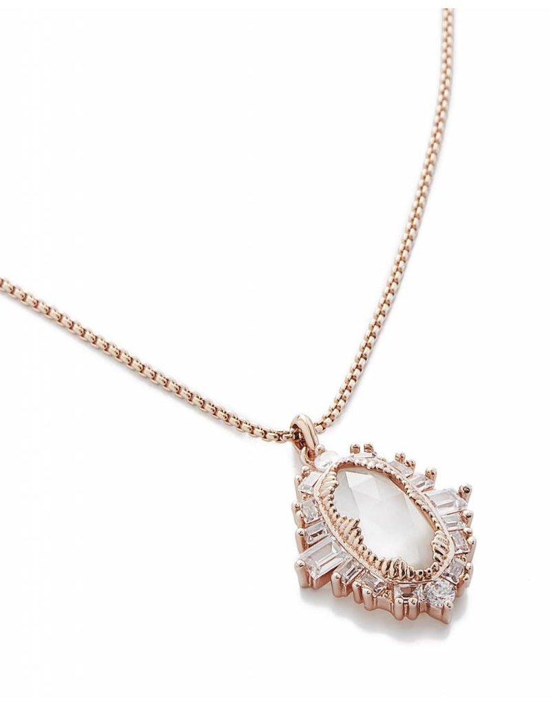 Kendra Scott Kendra Scott Kay Pendant Necklace in Rose Gold