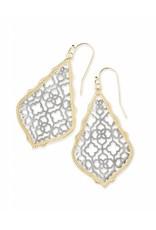 Kendra Scott Kendra Scott Addie Earrings in Silver Filigree on Gold