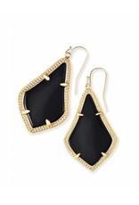 Kendra Scott Kendra Scott Alex Earrings in Black on Gold