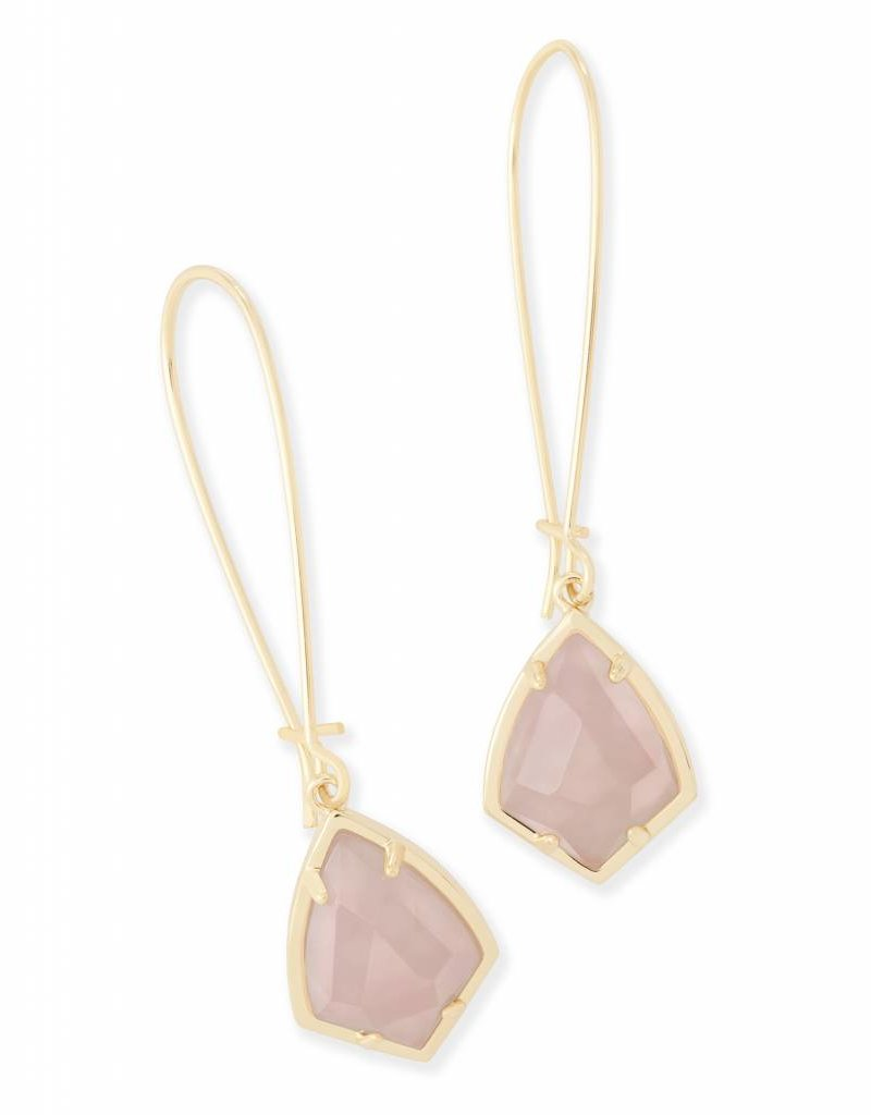 Kendra Scott Kendra Scott Carinne Earrings in Rose Quartz
