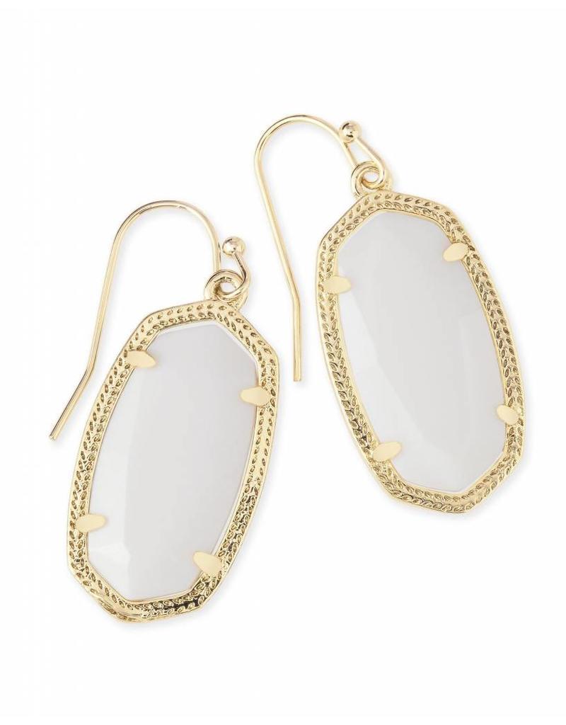 Kendra Scott Kendra Scott Dani Earrings in White Pearl on Gold