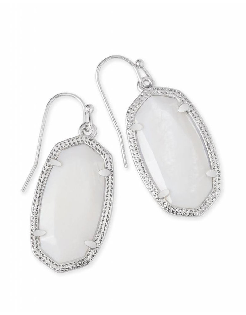 Kendra Scott Kendra Scott Dani Earrings in White Pearl on Silver