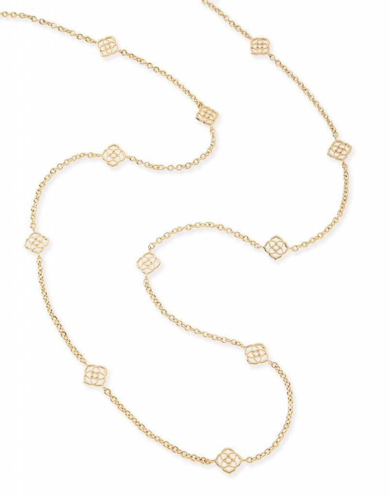 Kendra Scott Kendra Scott Devalyn Long Necklace in Gold