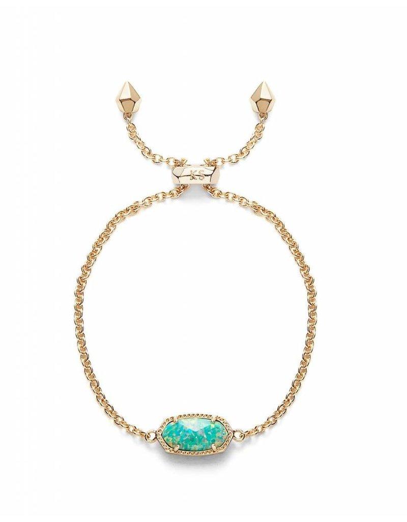 Kendra Scott Kendra Scott Elaina Adjustable Bracelet in Aqua Opal