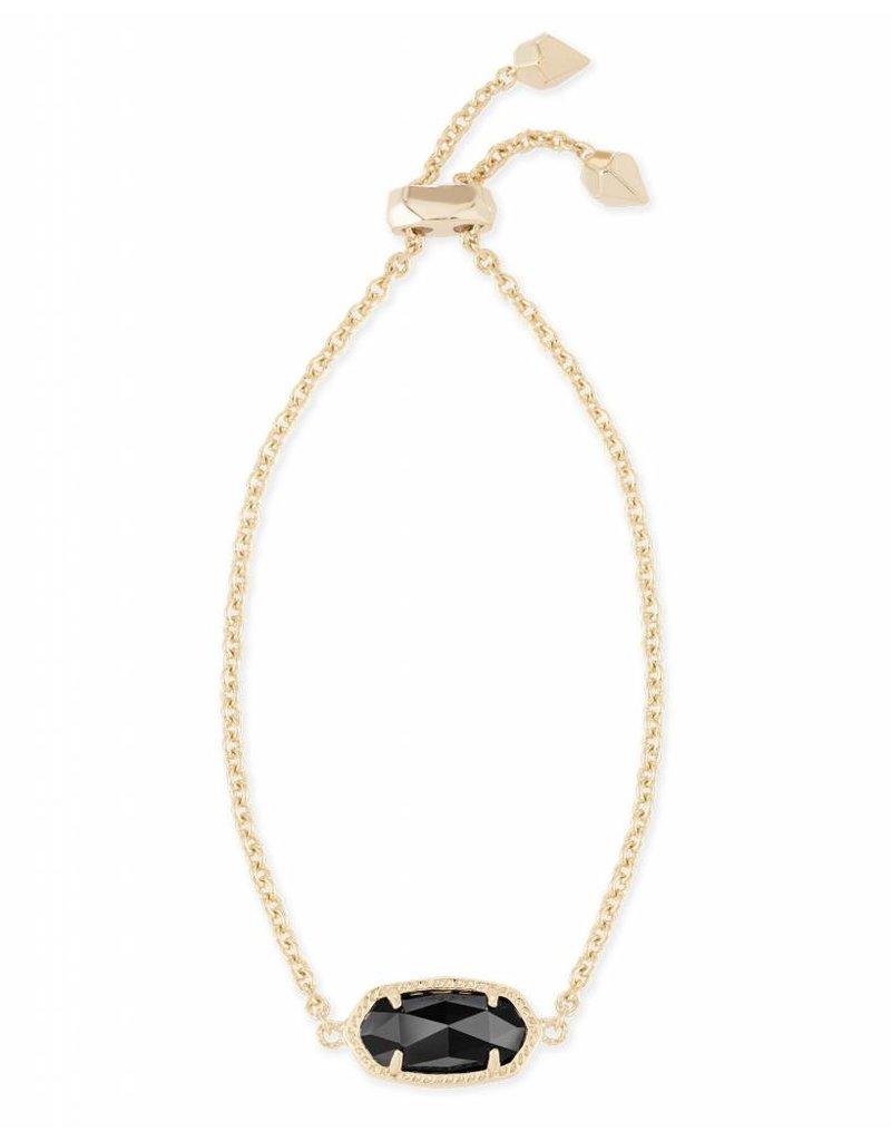Kendra Scott Kendra Scott Elaina Adjustable Bracelet in Black on Gold