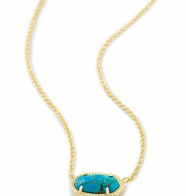 Kendra Scott Kendra Scott Elisa Necklace in Bronze Veined Turquoise