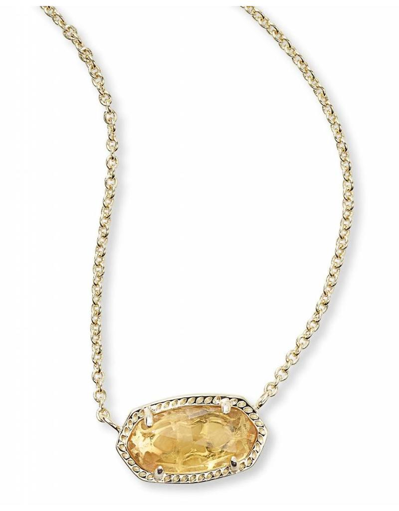 Kendra Scott Kendra Scott Elisa Necklace in Orange Citrine on Gold (Nov.)