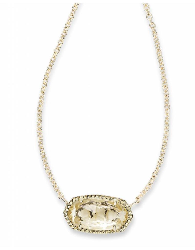 Kendra Scott Kendra Scott Elisa Necklace in Crystal Clear on Gold (Apr.)