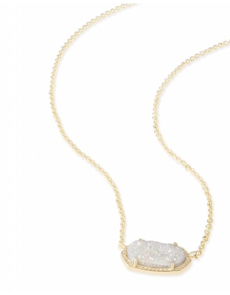 Kendra Scott Kendra Scott Elisa Necklace in Iridescent Drusy on Gold