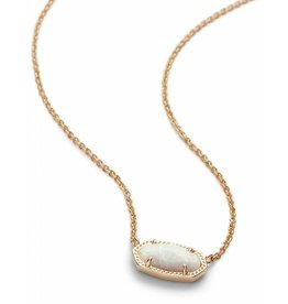 Kendra Scott Elisa Necklace in White Opal on Gold