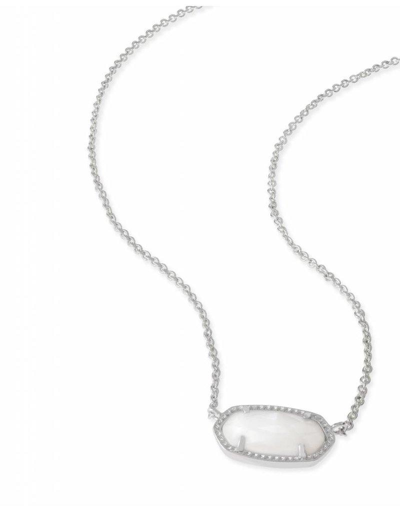 Kendra Scott Kendra Scott Elisa Necklace in White Pearl on Silver