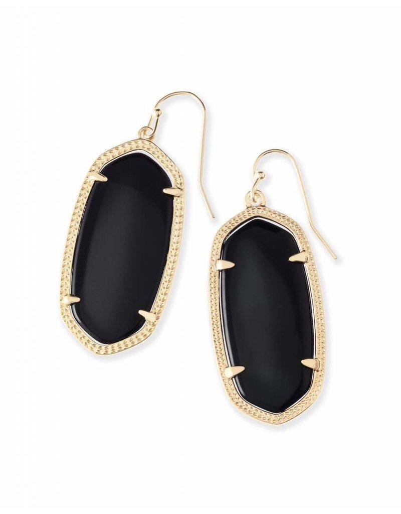 Kendra Scott Kendra Scott Elle Earrings in Black on Gold