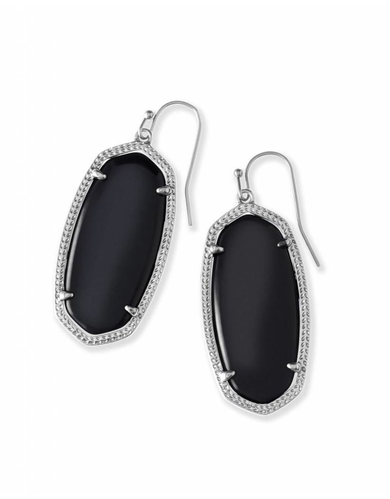 Kendra Scott Kendra Scott Elle Earrings in Black on Silver