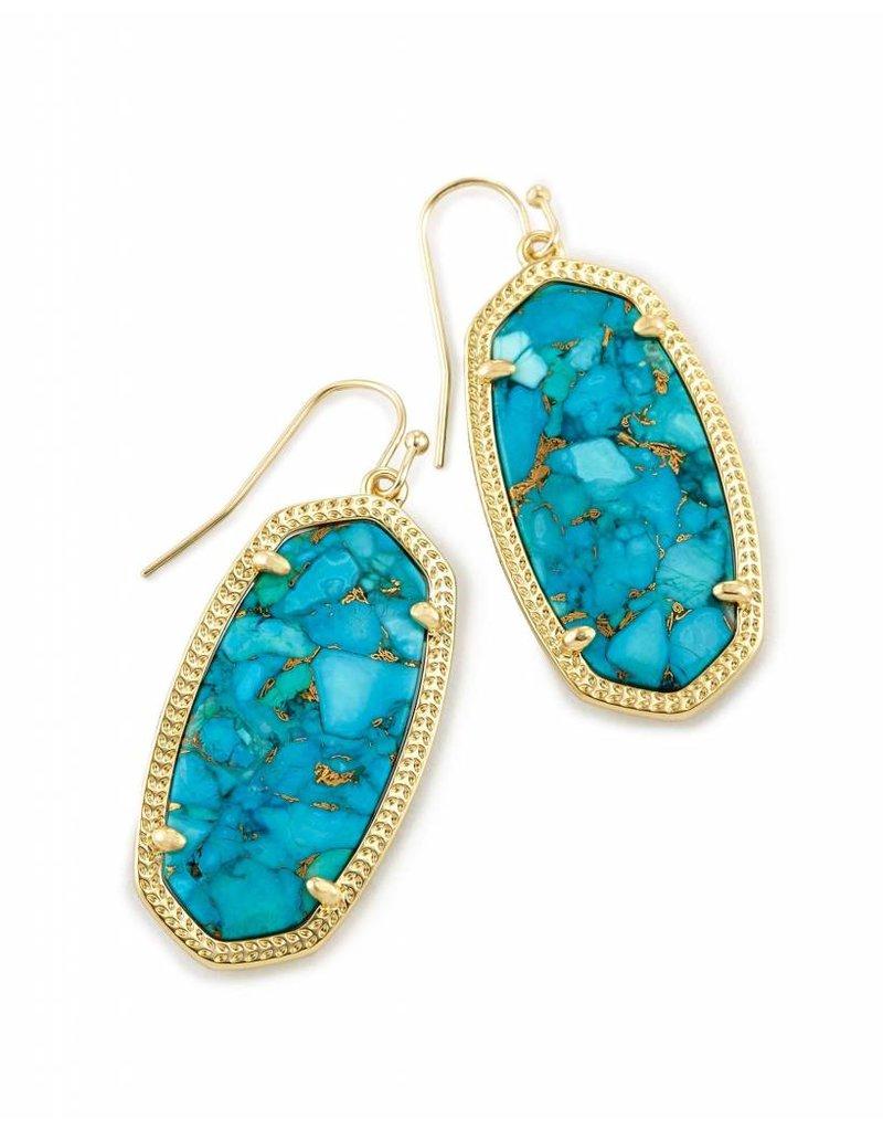 Kendra Scott Kendra Scott Elle Earrings in Bronze Veined Turquoise