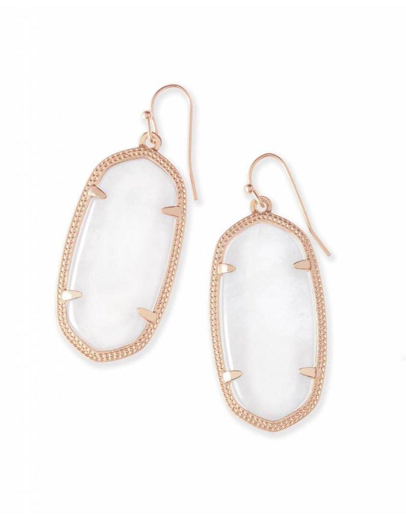 Kendra Scott Kendra Scott Elle Earrings in Ivory Pearl on Rose Gold