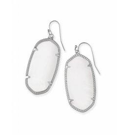 Kendra Scott Kendra Scott Elle Earrings in White Pearl on Silver