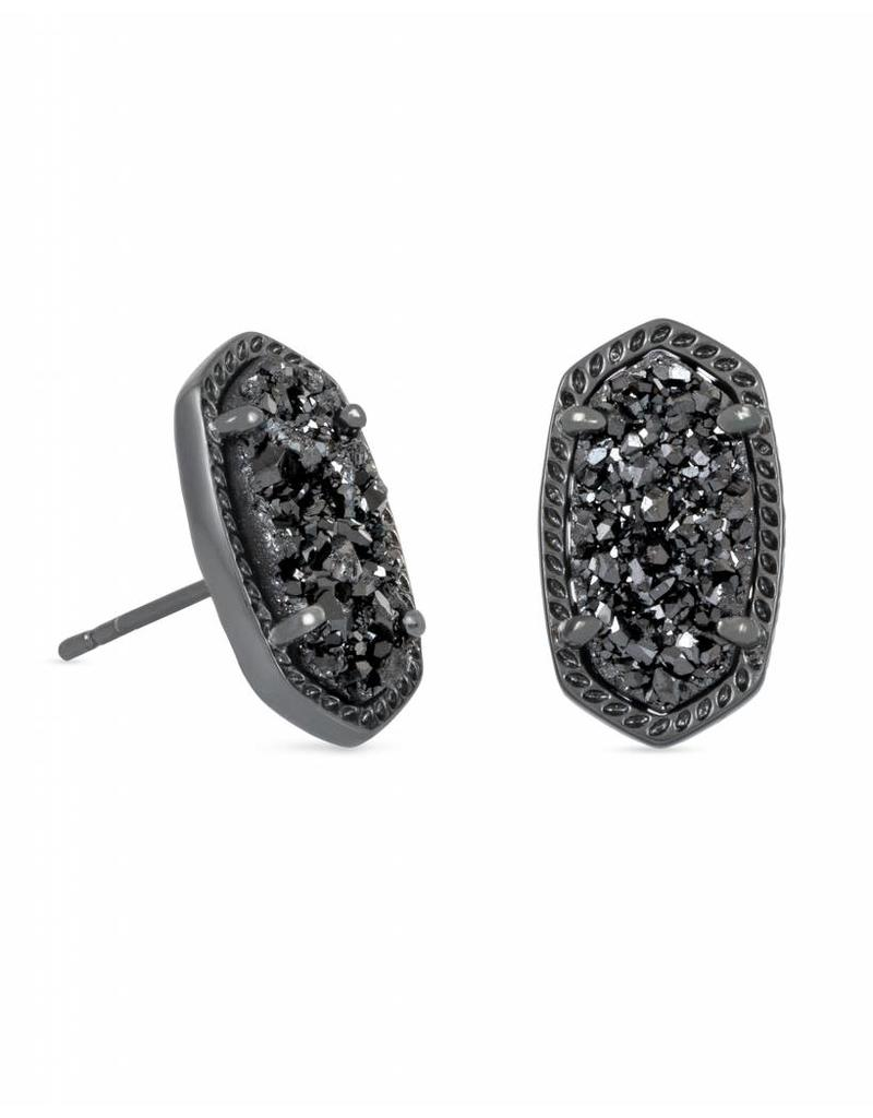 Kendra Scott Kendra Scott Ellie Stud Earrings in Black Drusy