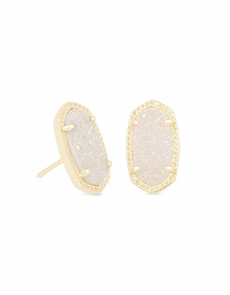 Kendra Scott Kendra Scott Ellie Stud Earrings in Iridescent Drusy on Gold