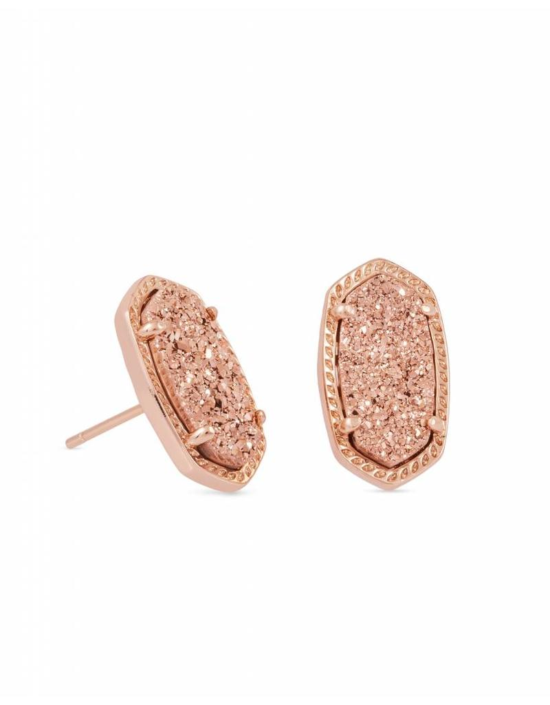 Kendra Scott Kendra Scott Ellie Stud Earrings in Rose Gold Drusy