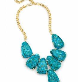 Kendra Scott Harlow Statement Necklace in Bronze Veined Turquoise