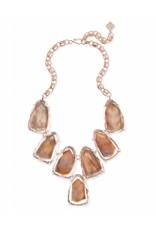 Kendra Scott Kendra Scott Harlow Statement Necklace in Suspended Brown Pearl