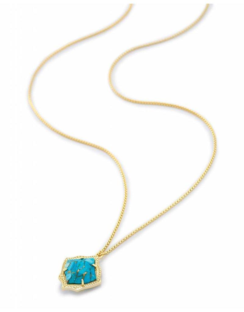 Kendra Scott Kendra Scott Kacey Pendant Necklace in Bronze Veined Turquoise