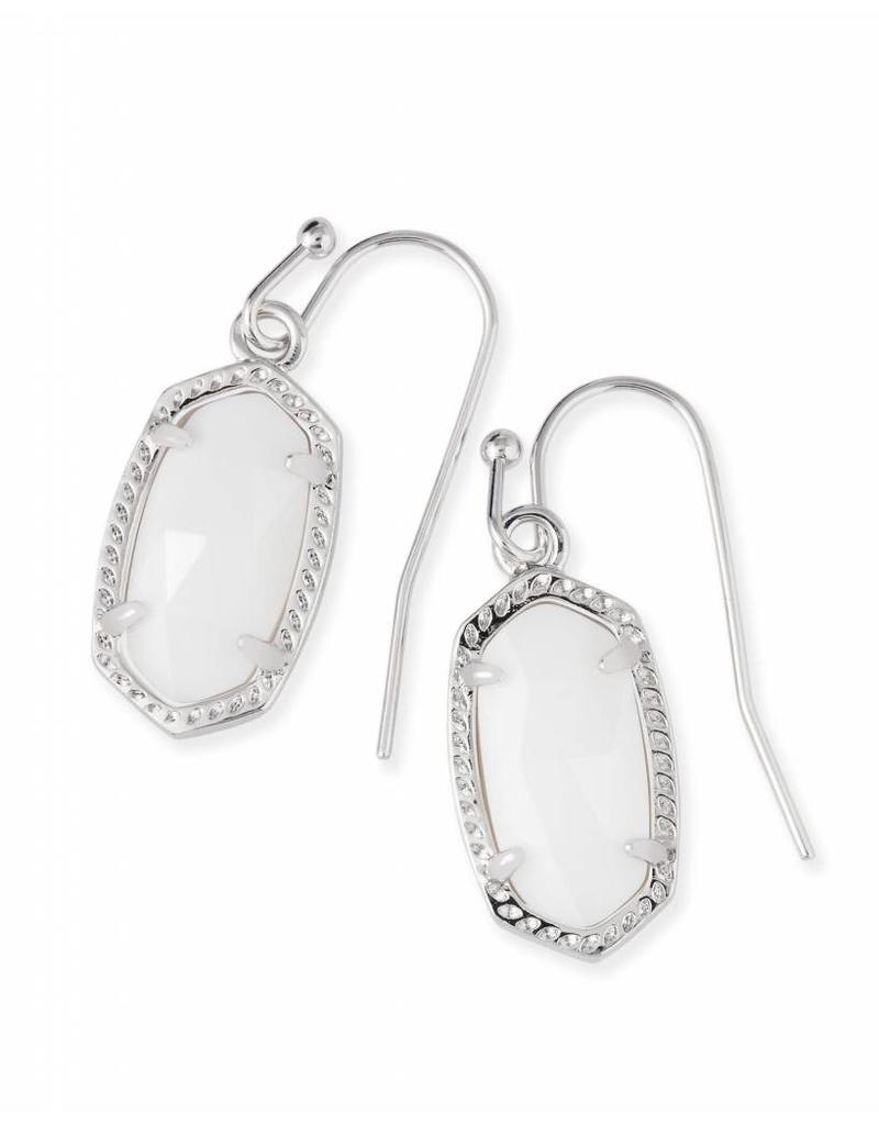 Kendra Scott Kendra Scott Lee Earrings in White Pearl on Silver