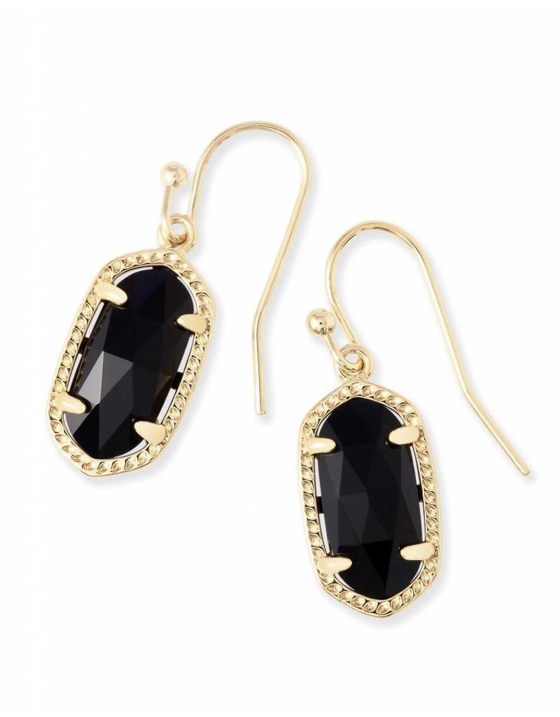 Kendra Scott Kendra Scott Lee Earrings in Black on Gold