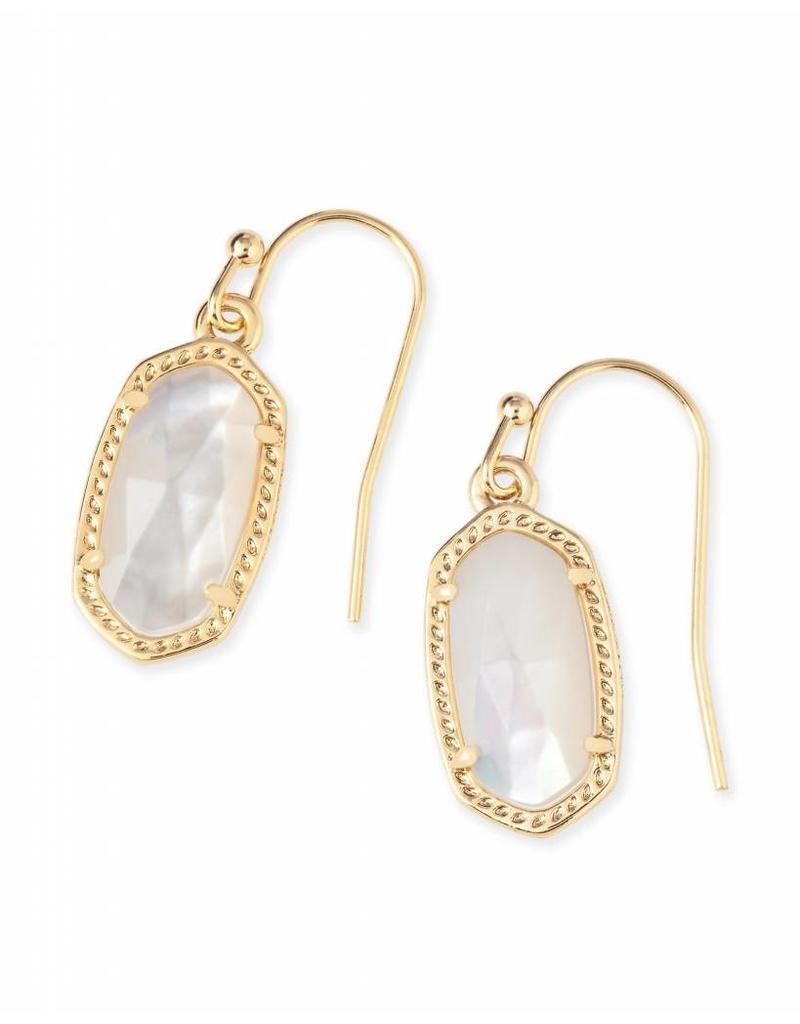 Kendra Scott Kendra Scott Lee Earrings in Ivory Pearl on Gold