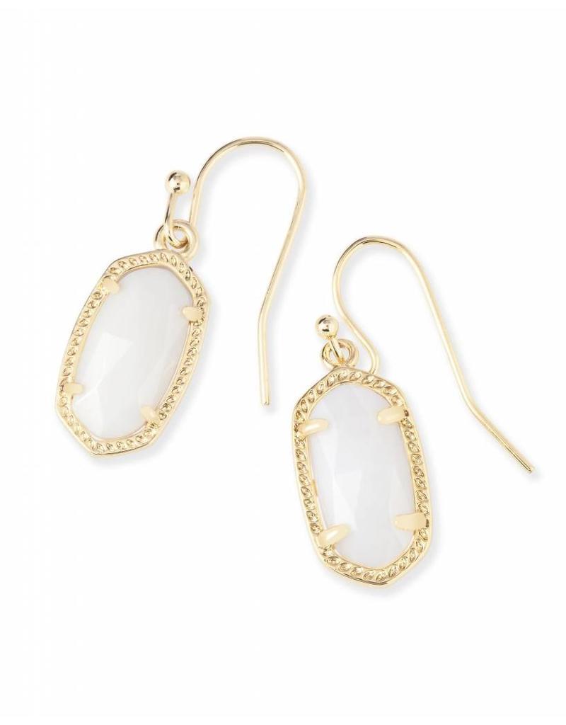 Kendra Scott Kendra Scott Lee Earrings in White Pearl on Gold