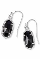 Kendra Scott Kendra Scott Lee Earrings in Black on Silver