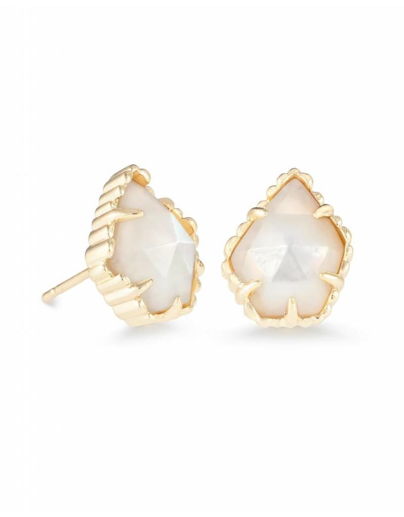 Kendra Scott Kendra Scott Tessa Studs in Ivory Pearl on Gold
