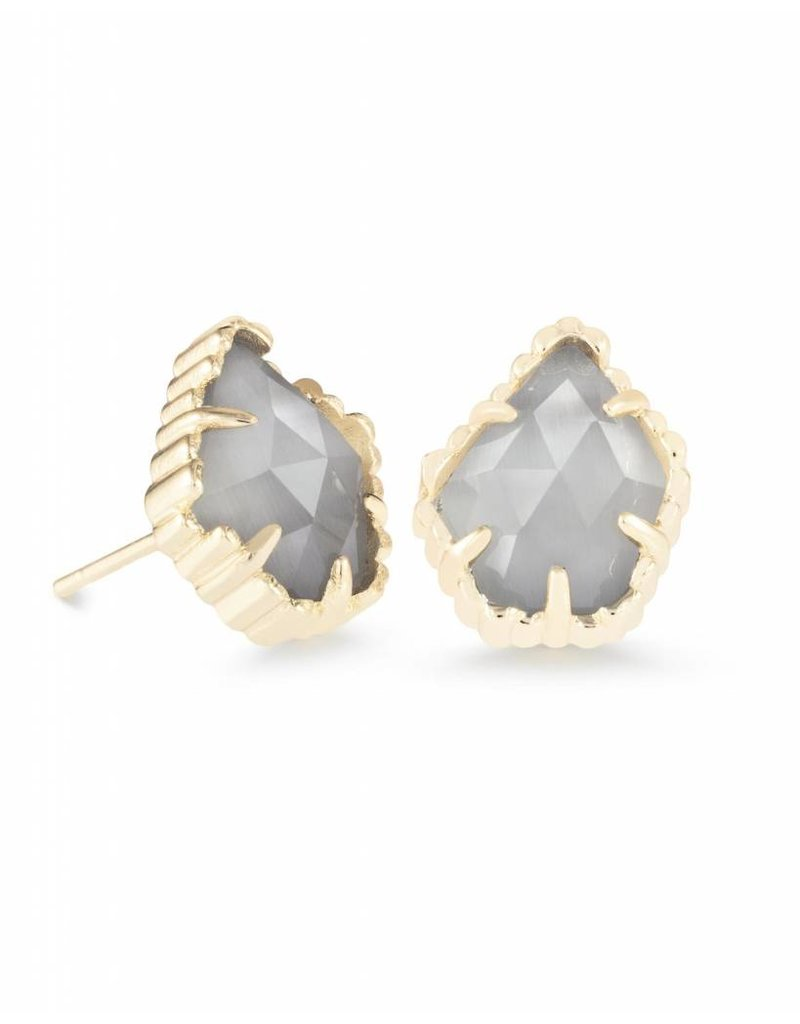 Kendra Scott Kendra Scott Tessa Studs in Slate on Gold