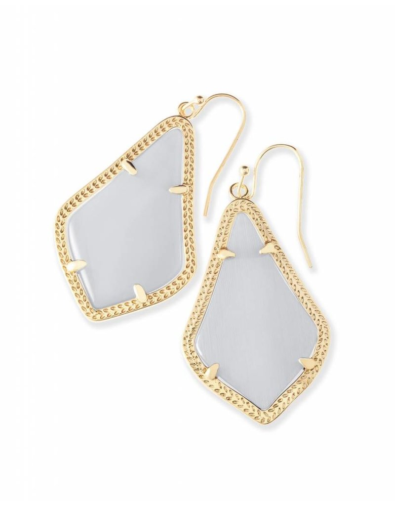 Kendra Scott Kendra Scott Alex Earrings in Slate on Gold