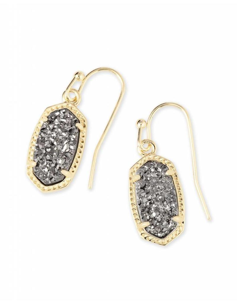 Kendra Scott Kendra Scott Lee Earrings in Platinum Drusy on Gold