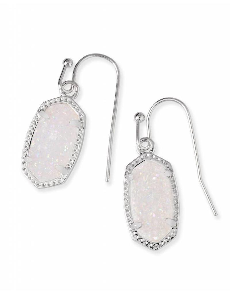 Kendra Scott Kendra Scott Lee Earrings in Iridescent Drusy on Silver