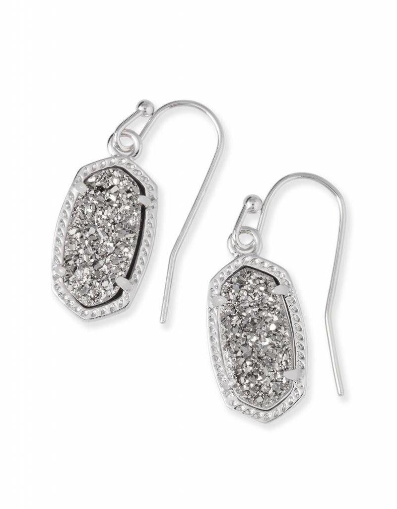 Kendra Scott Kendra Scott Lee Earrings in Platinum Drusy on Silver