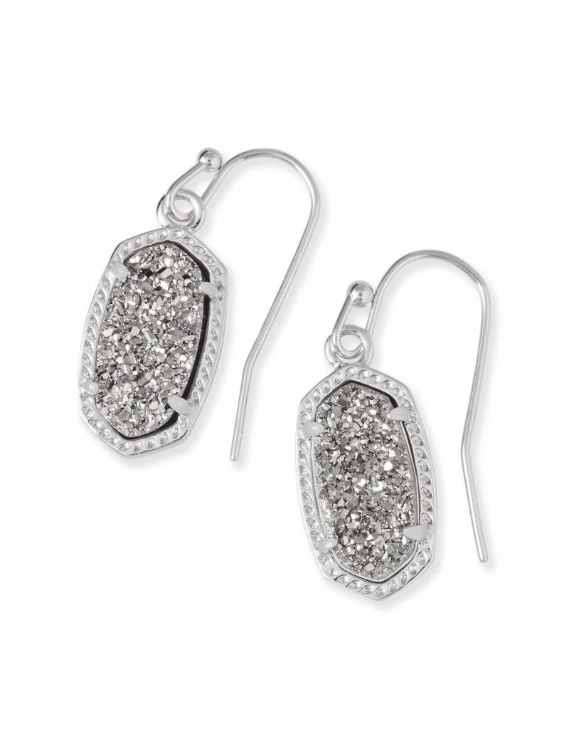 Kendra Scott Kendra Scott Lee Earrings in Platinum Drusy on Silver